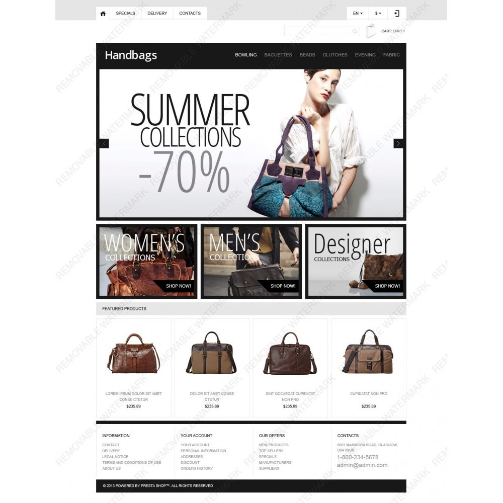theme - Moda & Calçados - Responsive Handbags Boutique - 3