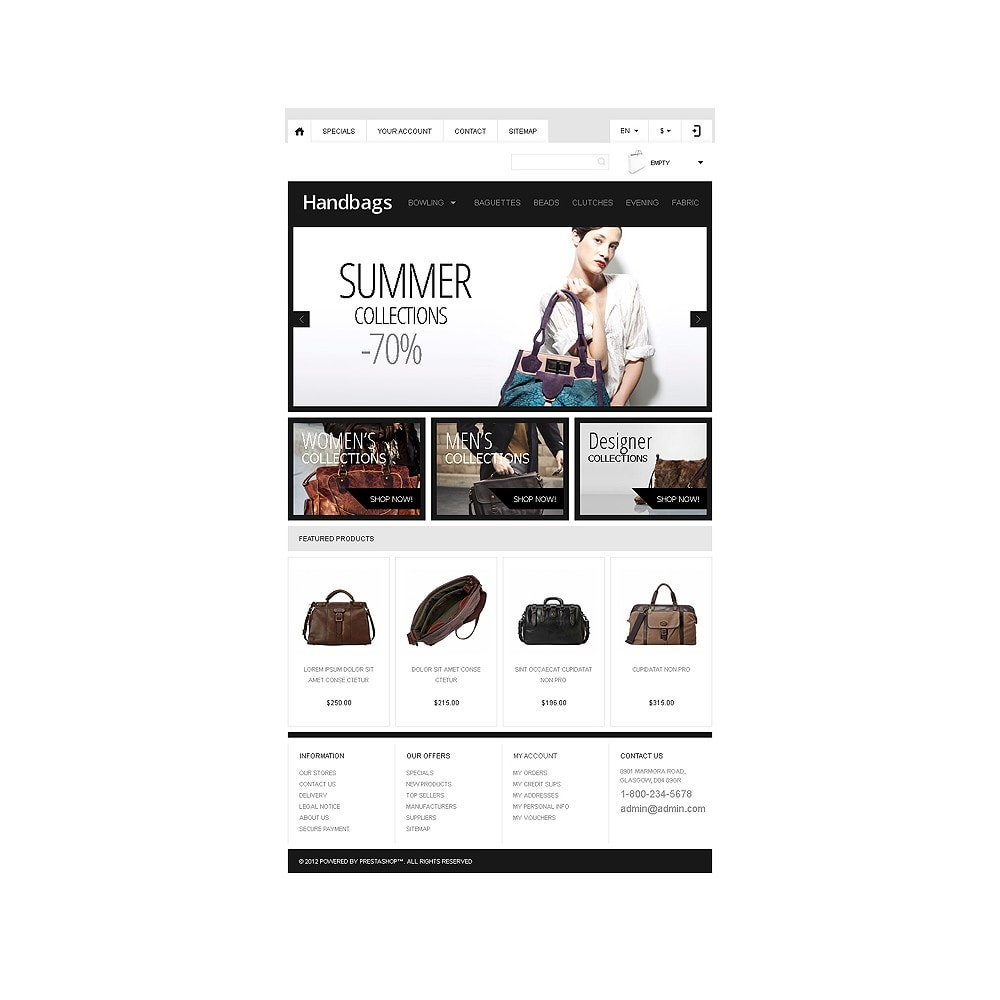 theme - Moda & Calçados - Responsive Handbags Boutique - 8