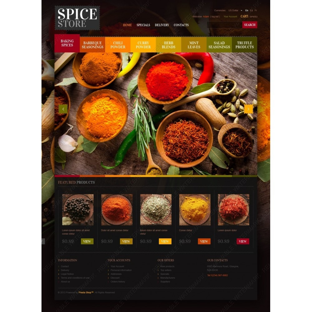 theme - Food & Restaurant - Chef's Spices - 2