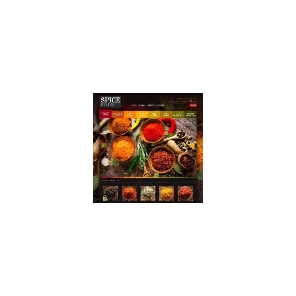 theme - Food & Restaurant - Chef's Spices - 4