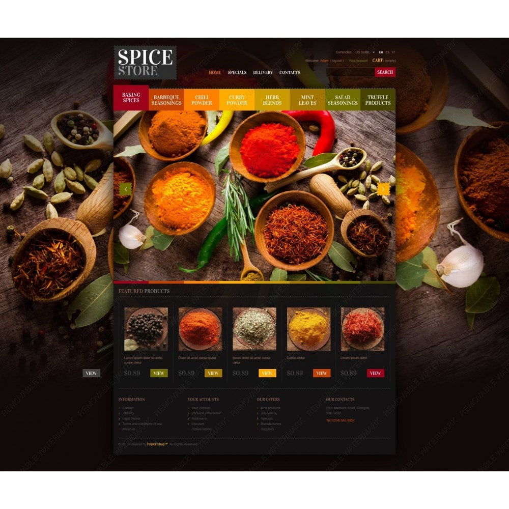 theme - Food & Restaurant - Chef's Spices - 7