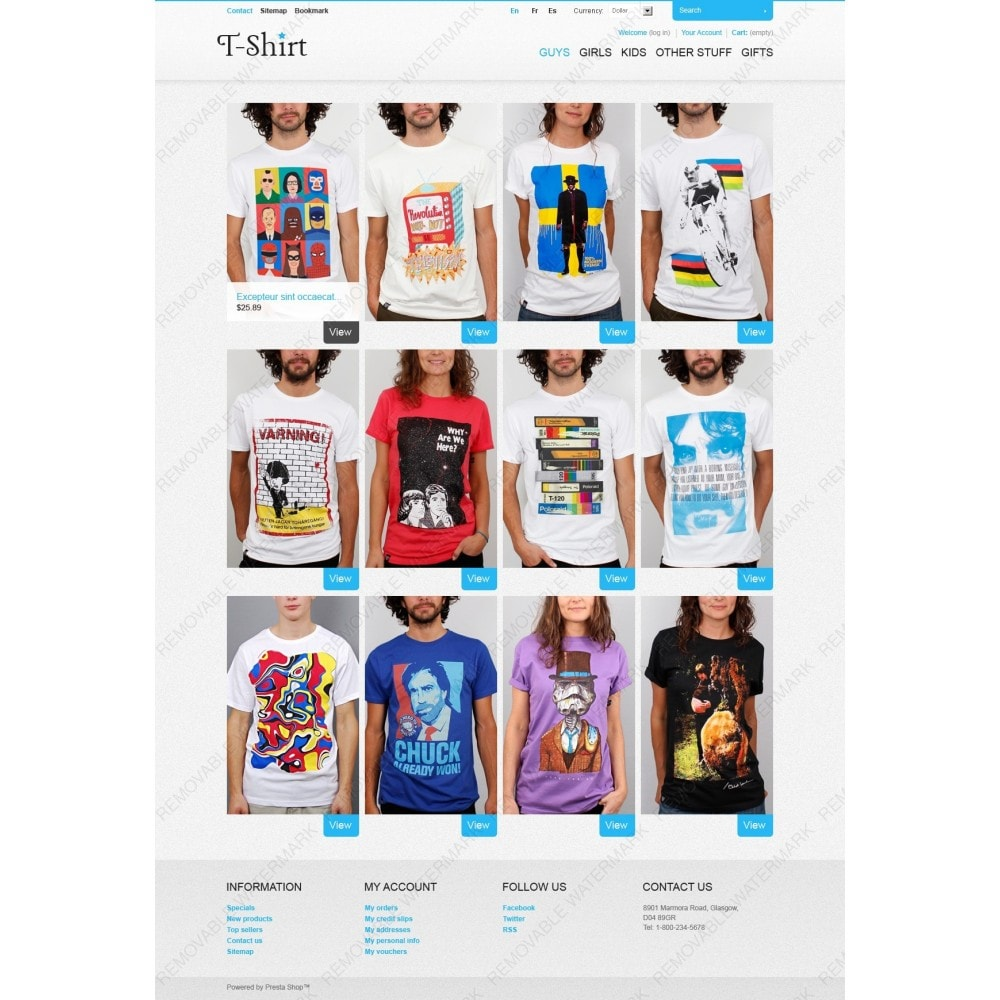 theme - Mode & Chaussures - T-Shirt Store - 2