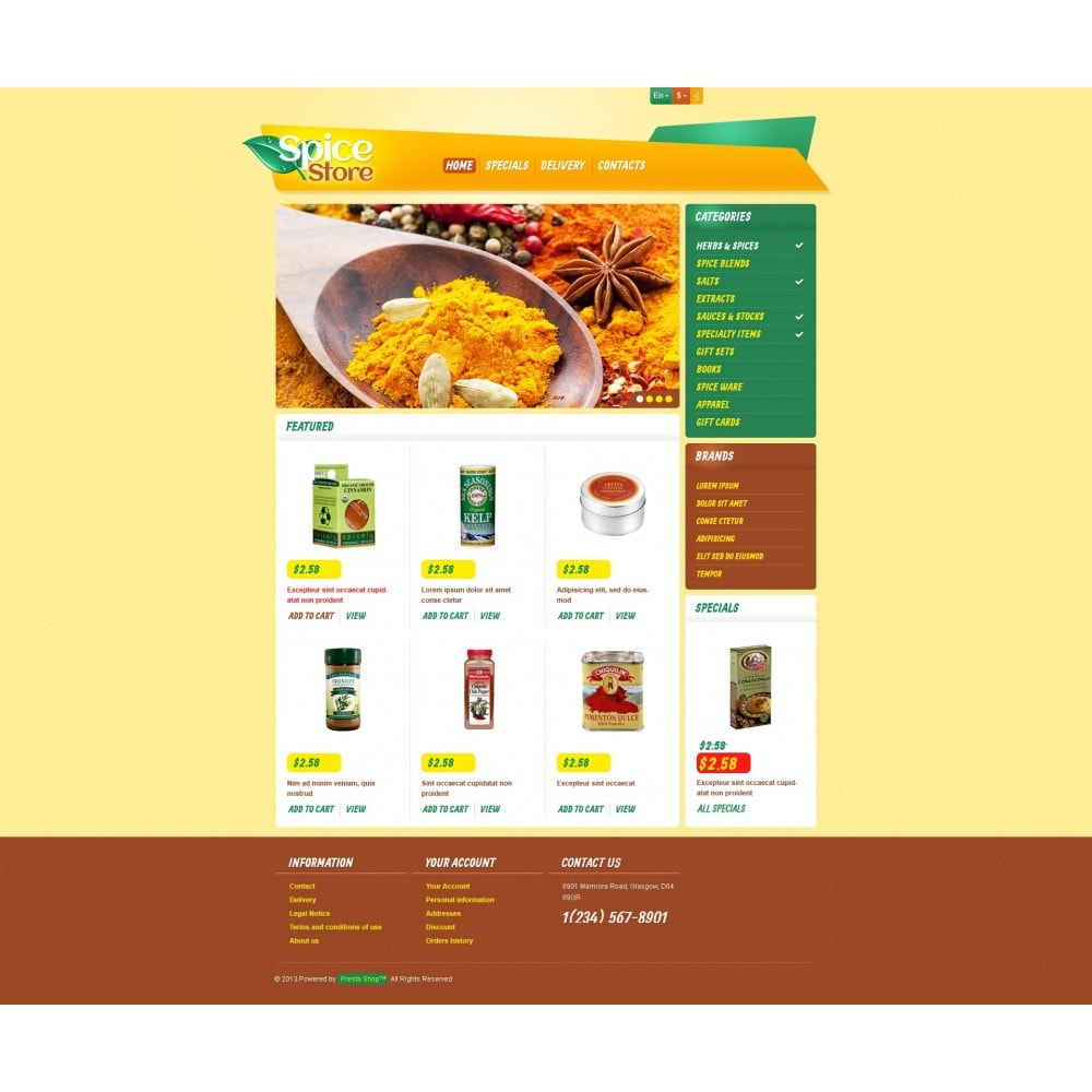 theme - Eten & Restaurant - Responsive Spice Store - 4