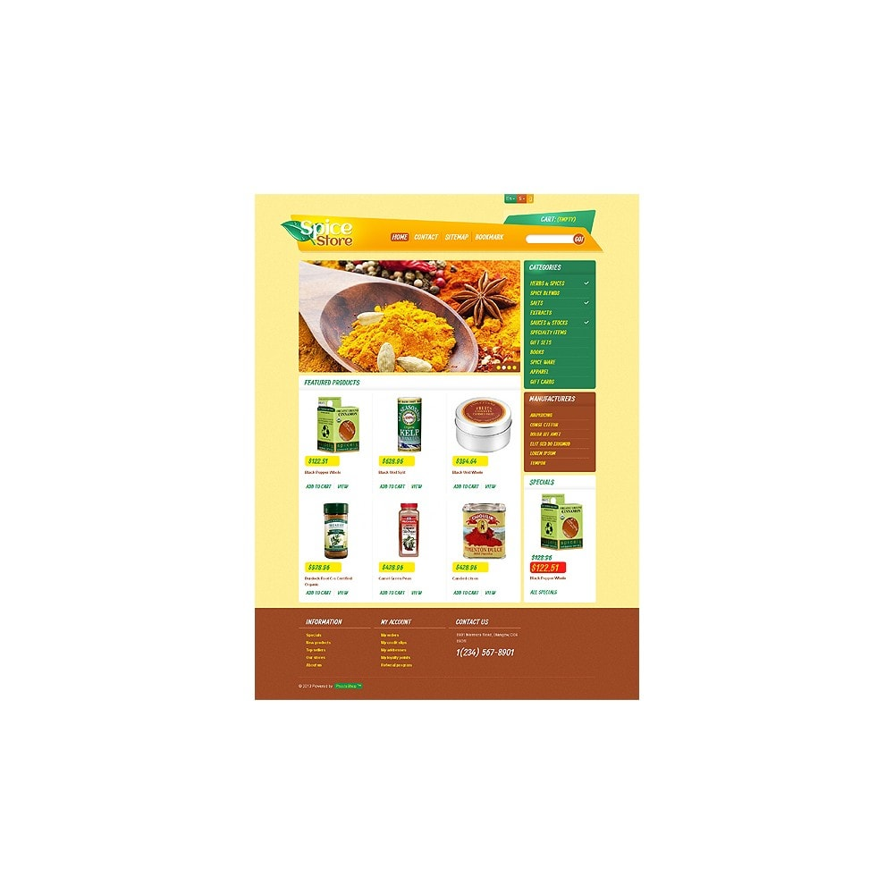 theme - Eten & Restaurant - Responsive Spice Store - 11
