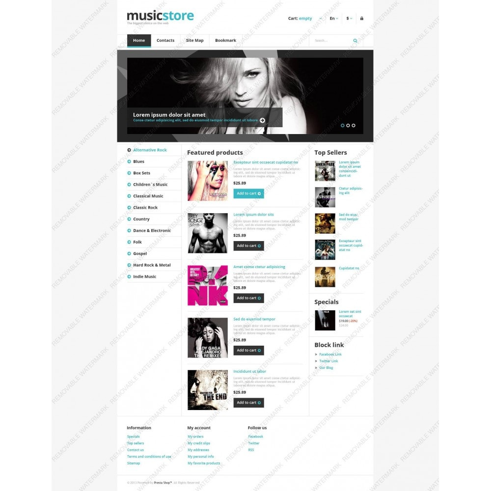 theme - Kultura & Sztuka - Responsive Music Store - 6