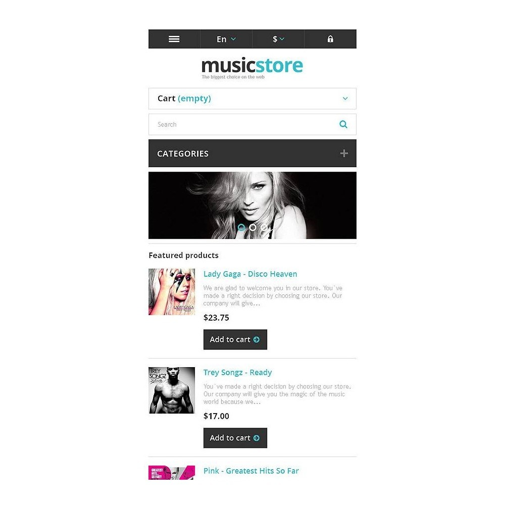 theme - Kultura & Sztuka - Responsive Music Store - 9