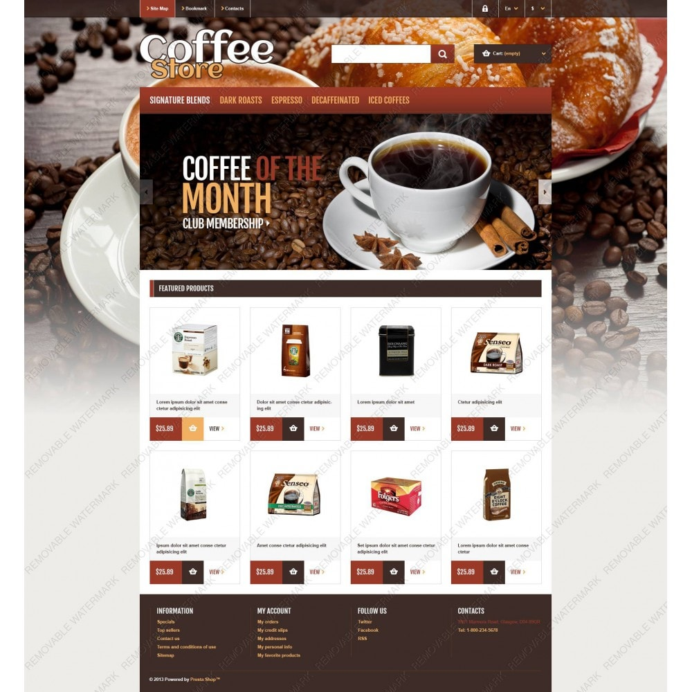 theme - Food & Restaurant - Responsive Coffee Store - 5