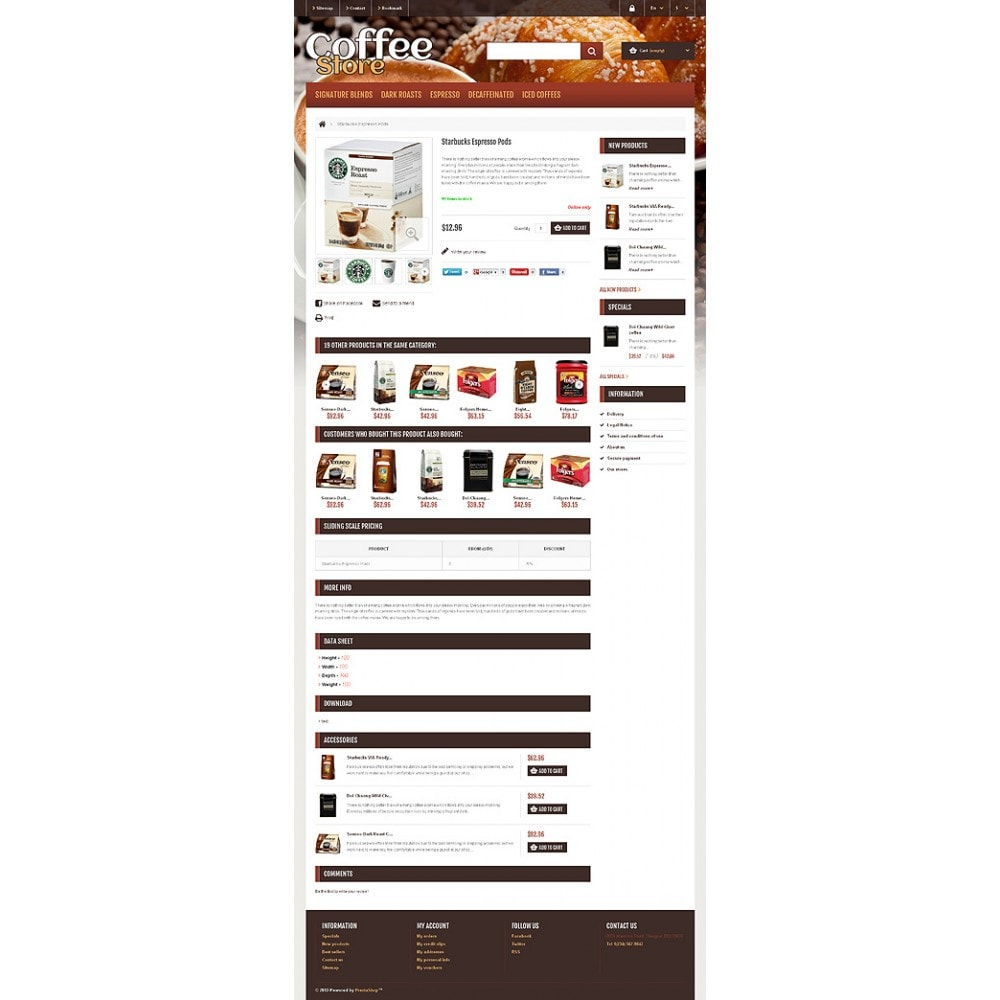 theme - Food & Restaurant - Responsive Coffee Store - 6