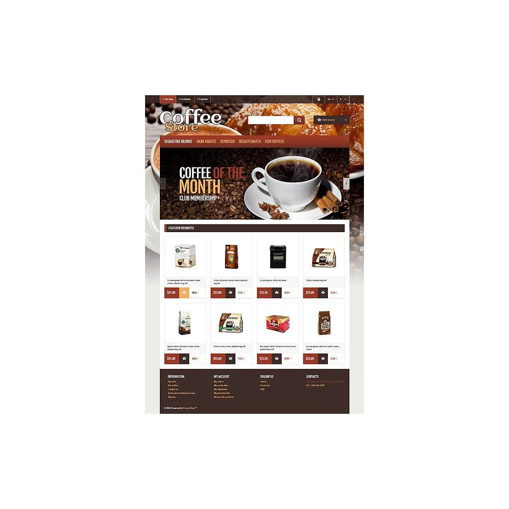 theme - Food & Restaurant - Responsive Coffee Store - 10