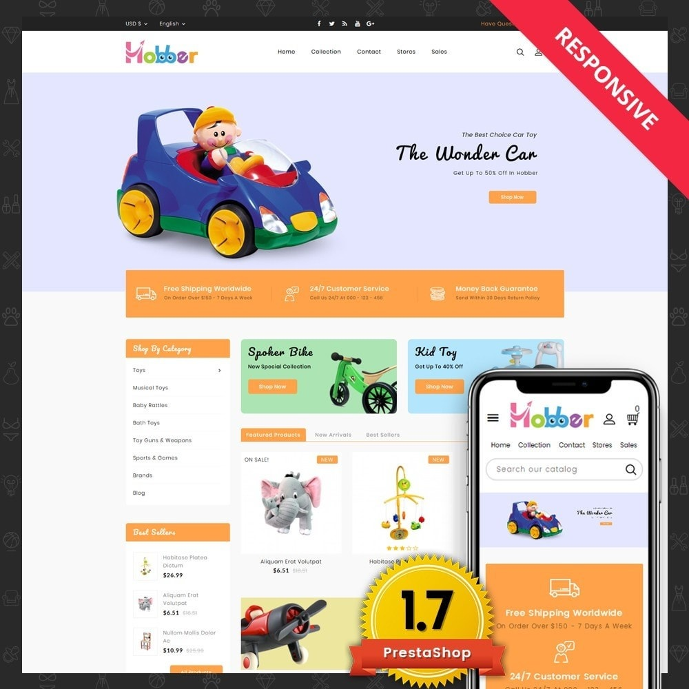 theme - Kids & Toys - Hobber Toy Store - 1