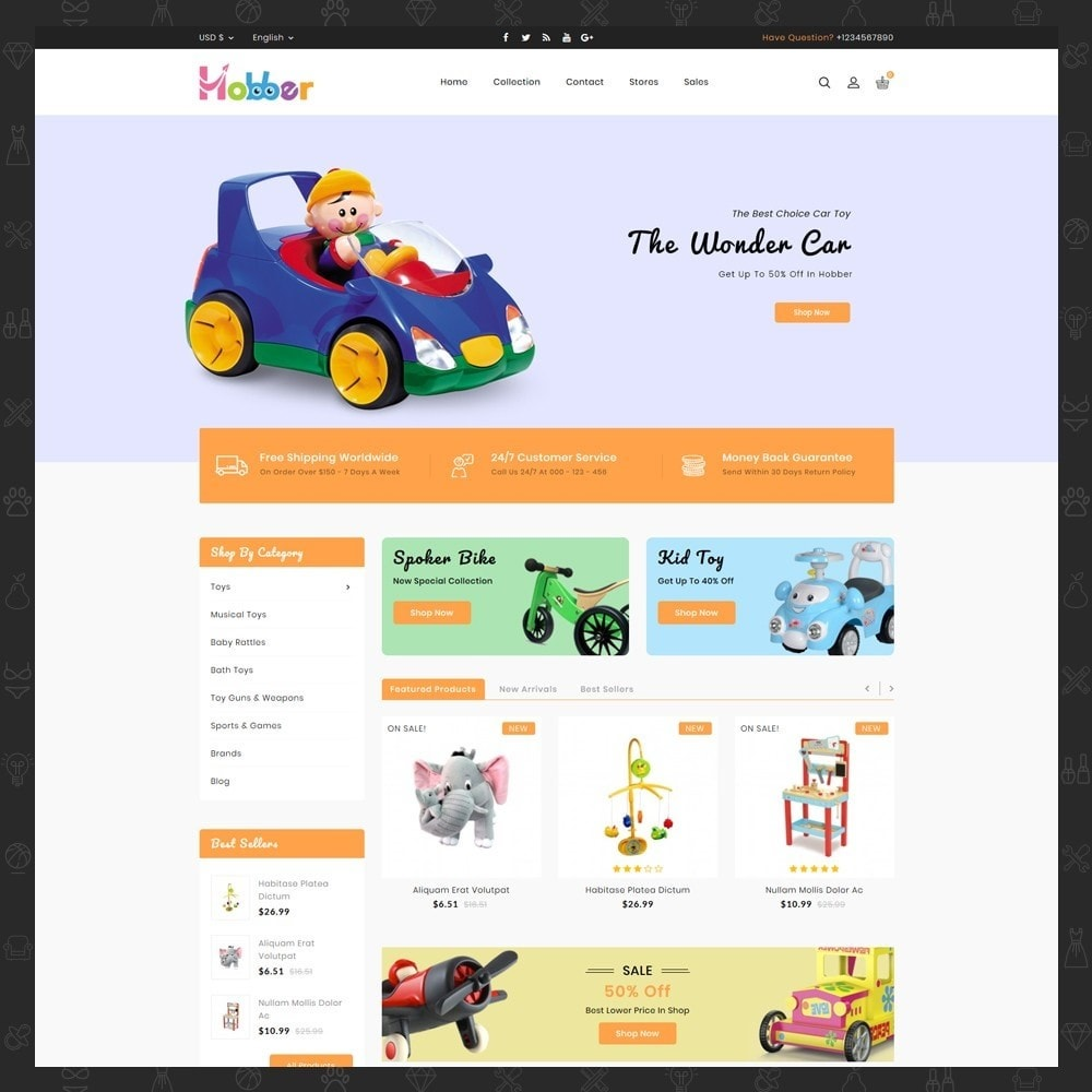 theme - Kids & Toys - Hobber Toy Store - 2