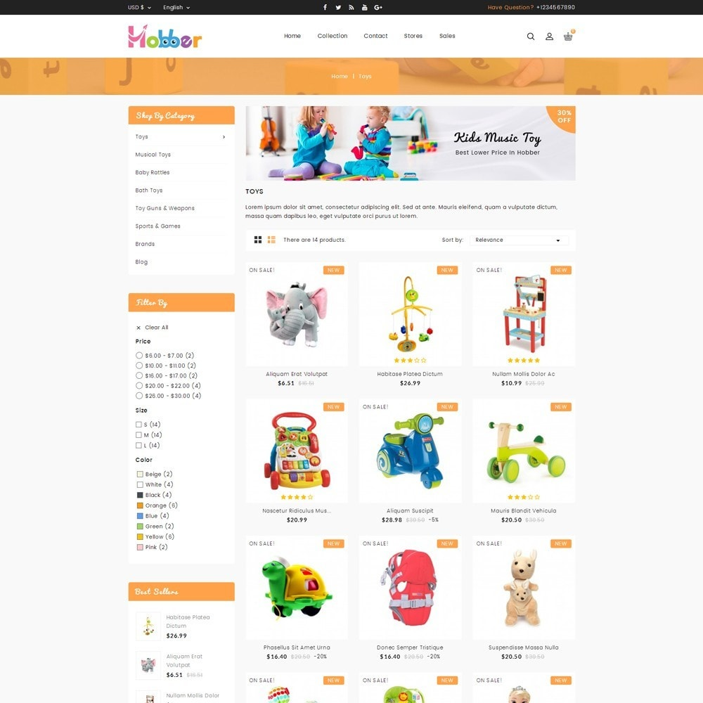 theme - Niños y Juguetes - Hobber Toy Store - 3