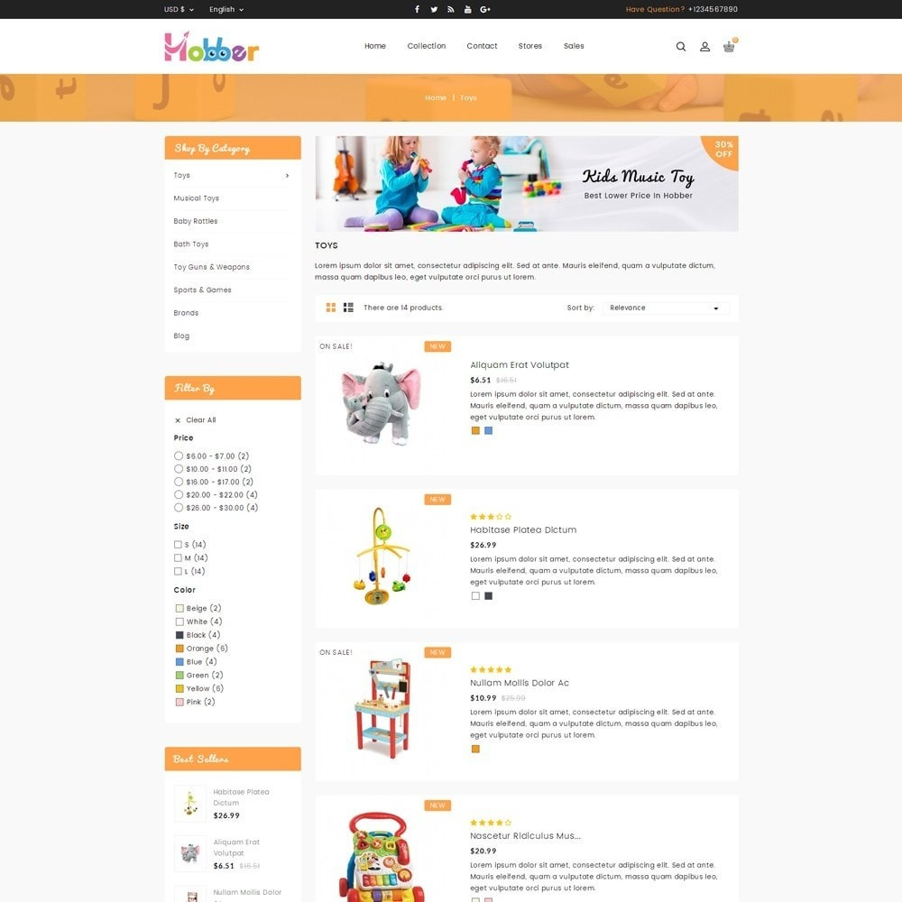 theme - Niños y Juguetes - Hobber Toy Store - 4