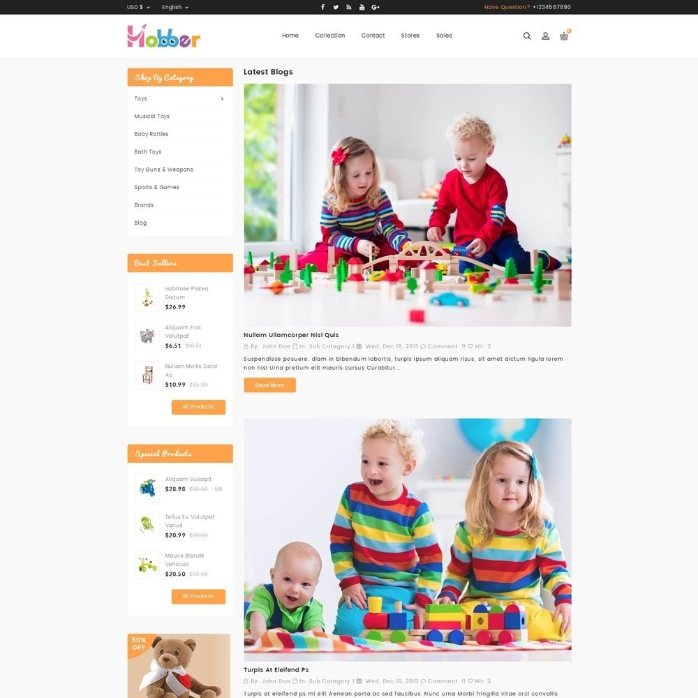 theme - Niños y Juguetes - Hobber Toy Store - 6