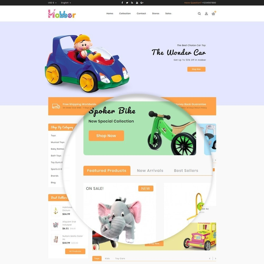 theme - Niños y Juguetes - Hobber Toy Store - 9