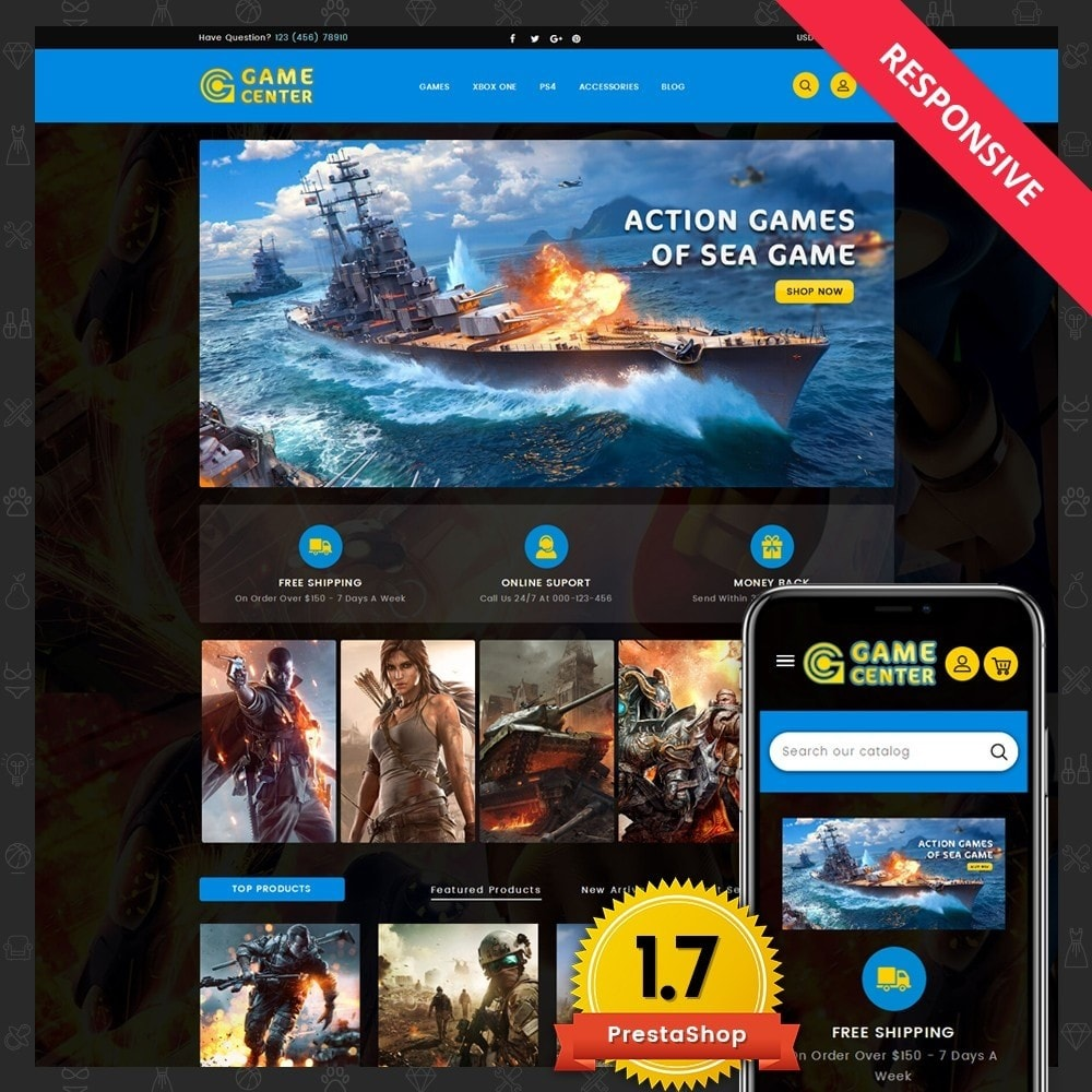 theme - Sport, Loisirs & Voyage - Game center Online Store - 1