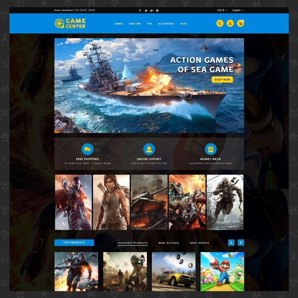 theme - Sport, Loisirs & Voyage - Game center Online Store - 2