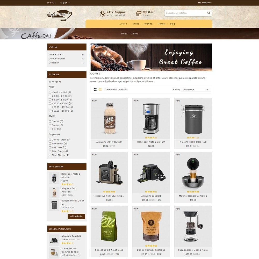theme - Drink & Wine - Coffeehub Online Store - 3