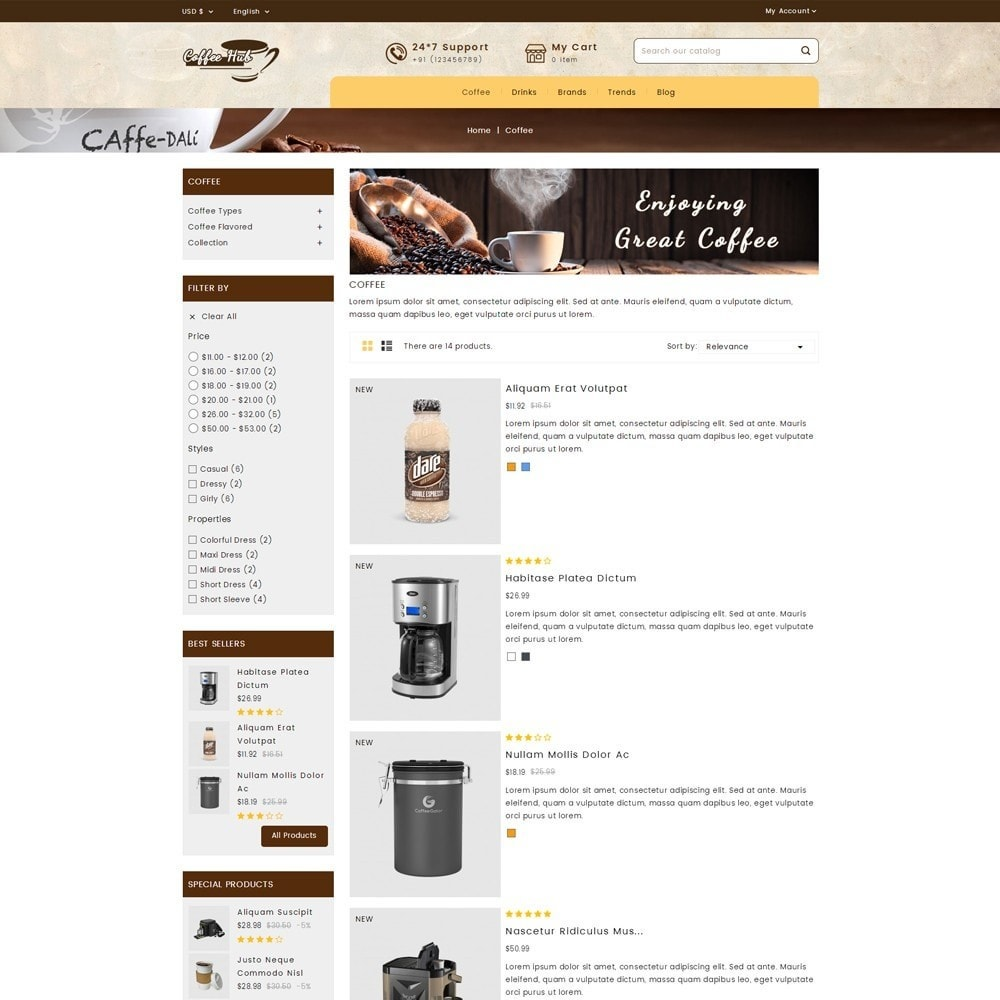 theme - Drink & Wine - Coffeehub Online Store - 4
