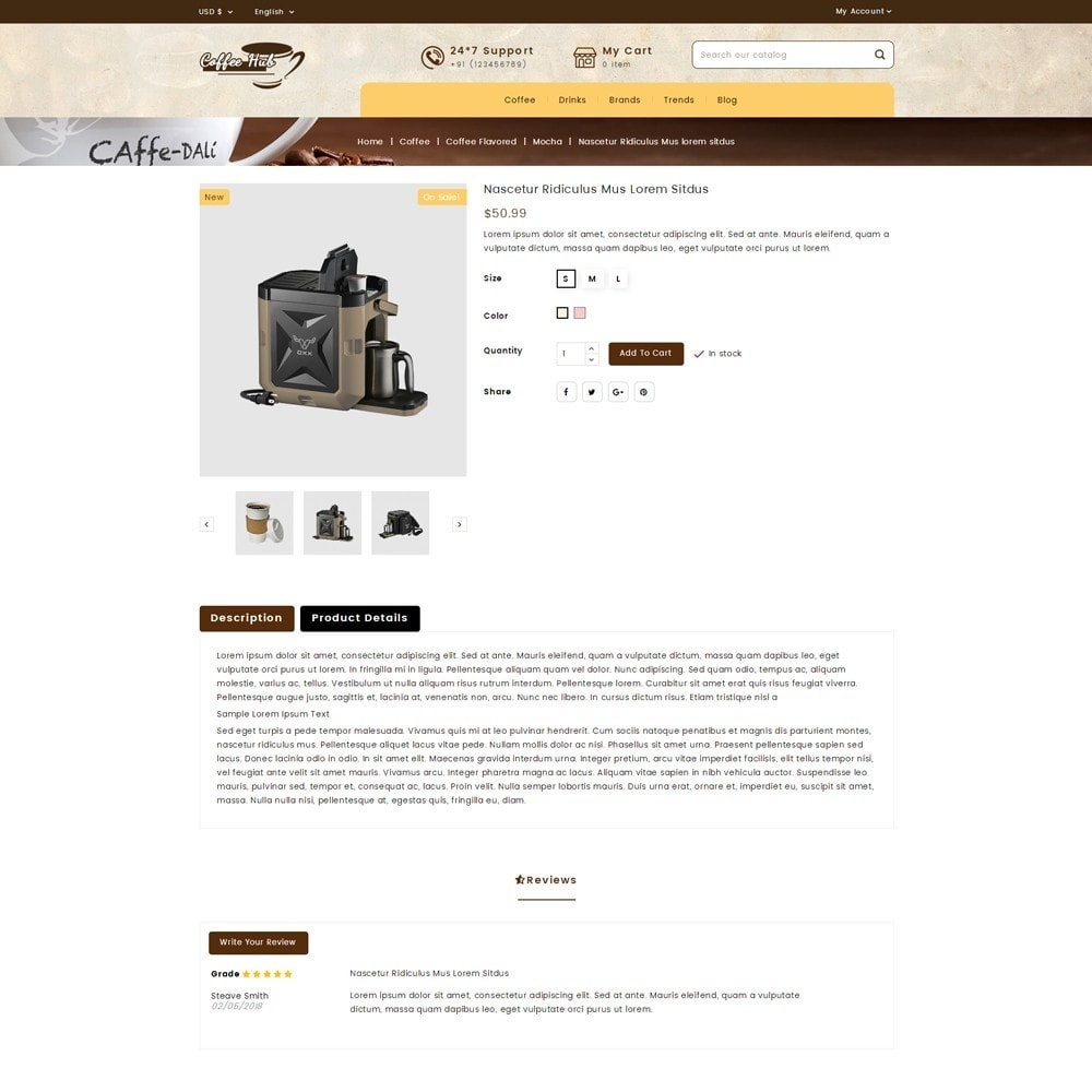 theme - Drink & Wine - Coffeehub Online Store - 5