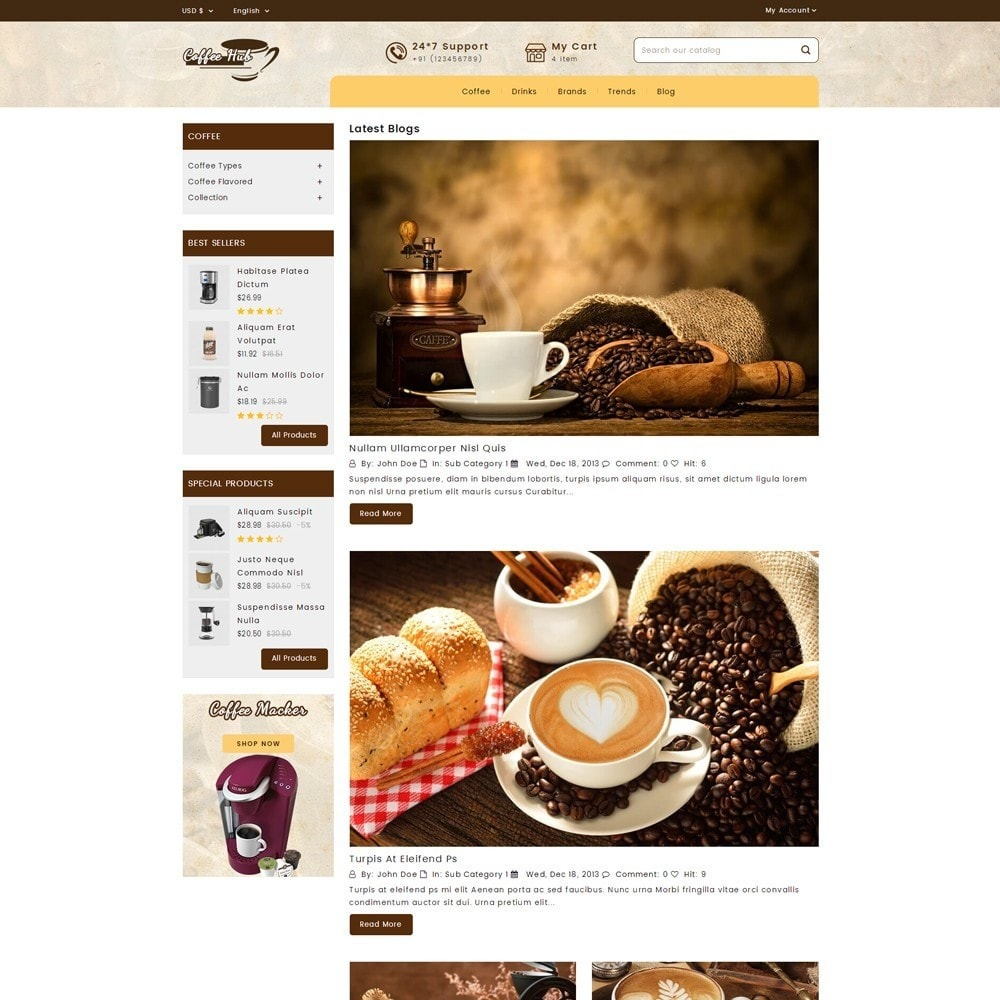 theme - Drink & Wine - Coffeehub Online Store - 7