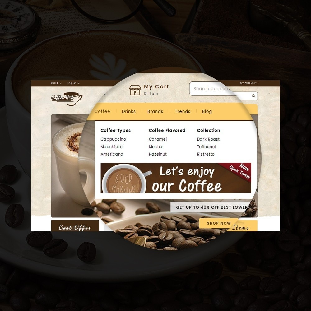 theme - Drink & Wine - Coffeehub Online Store - 9