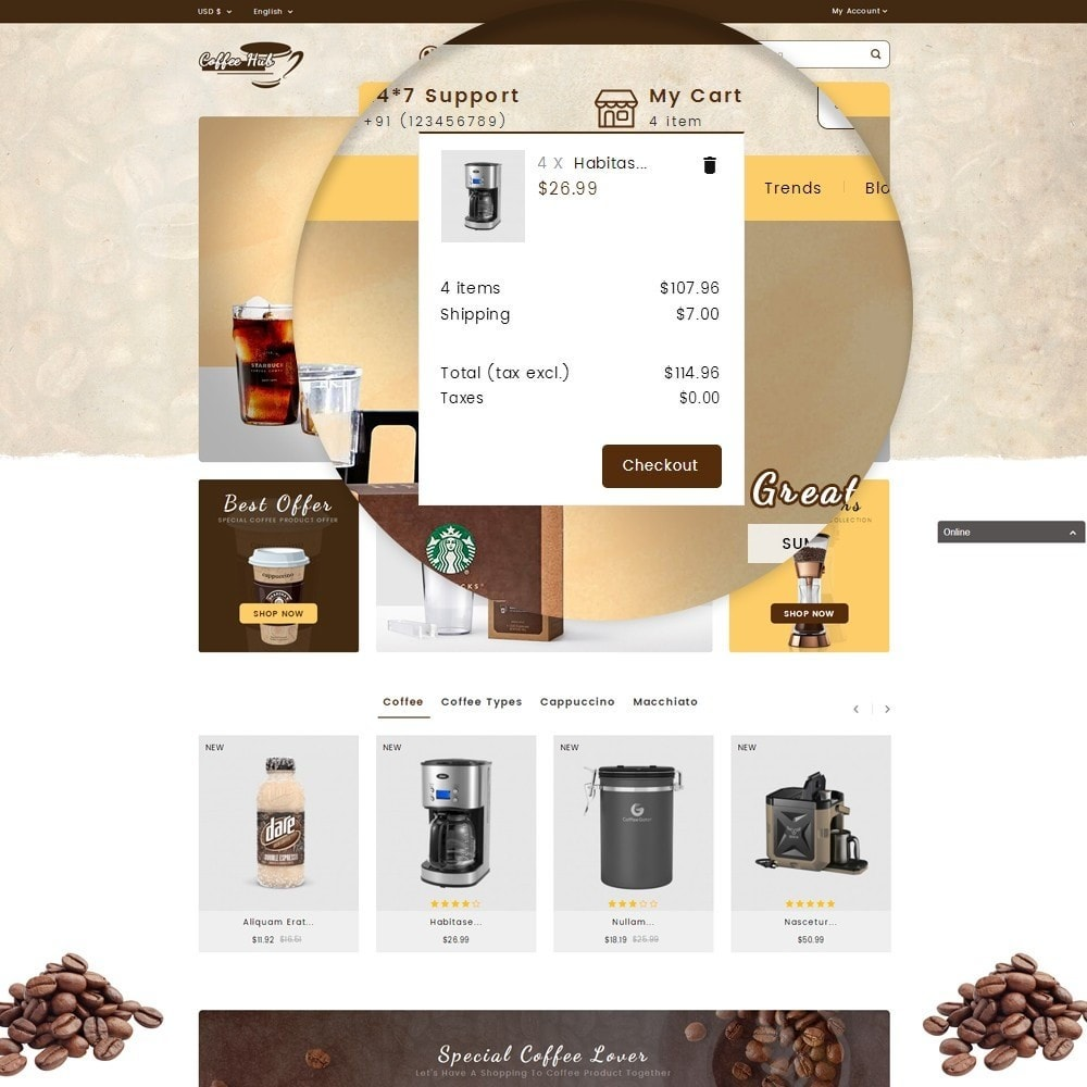 theme - Drink & Wine - Coffeehub Online Store - 10