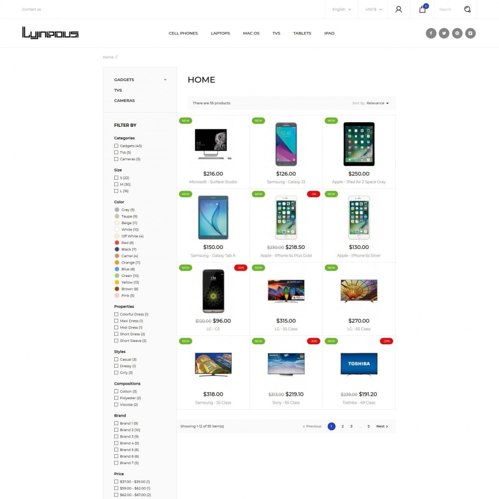theme - Eletrônicos & High Tech - Lyneous - High-tech Shop - 5