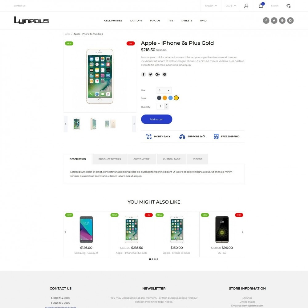 theme - Eletrônicos & High Tech - Lyneous - High-tech Shop - 8