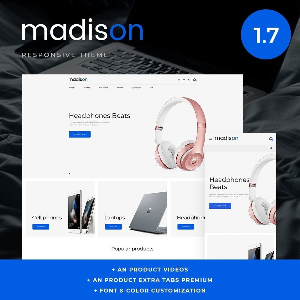 theme - Электроника и компьютеры - Madison - High-tech Shop - 1