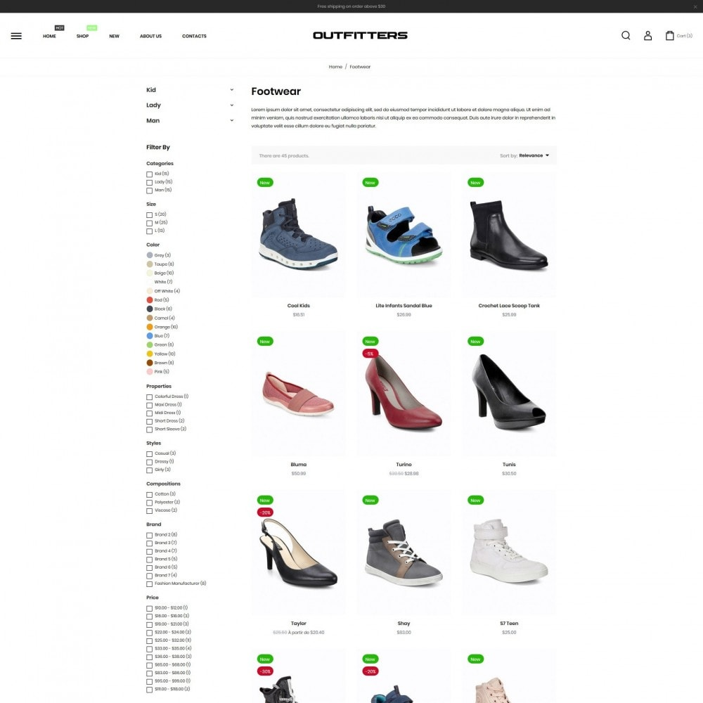 theme - Mode & Schoenen - Outfitters Shop - 5