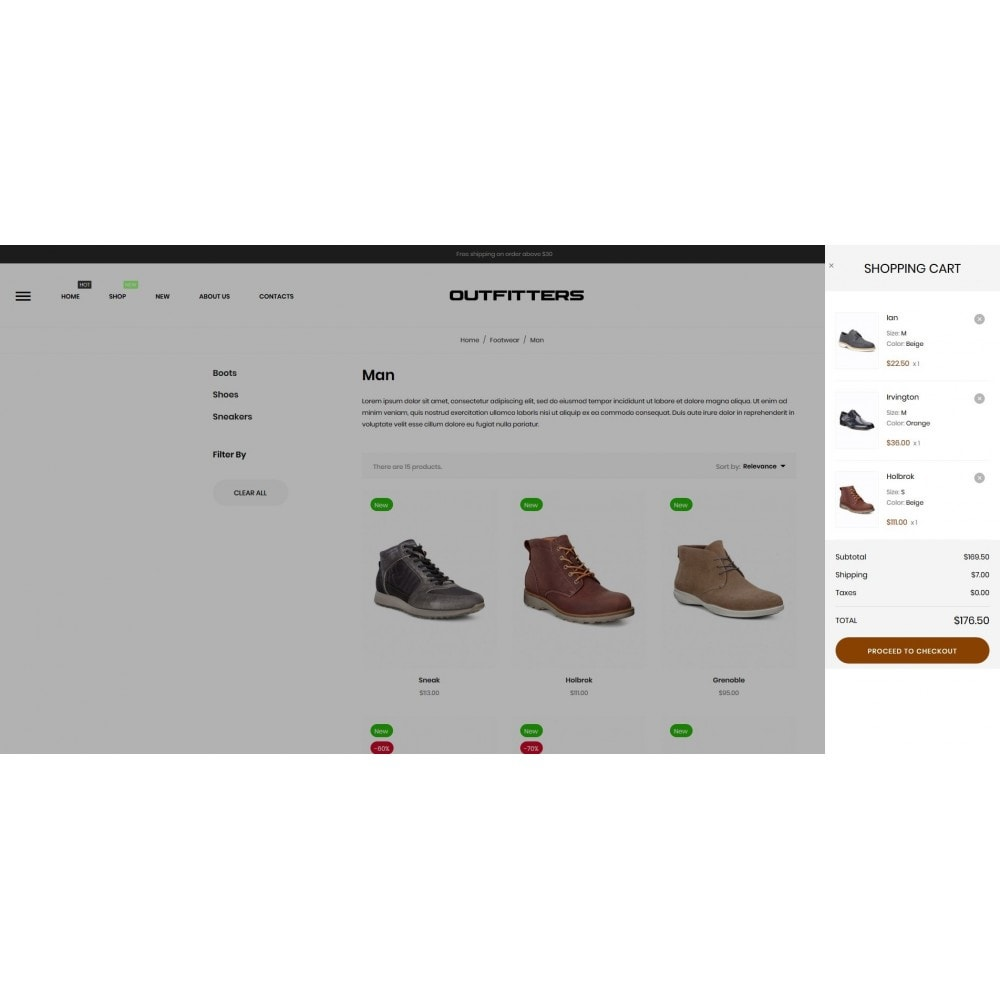 theme - Mode & Schoenen - Outfitters Shop - 11