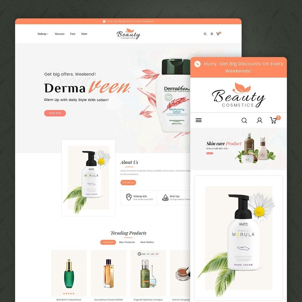 theme - Santé & Beauté - Beauty Spa & Cosmetics - 1