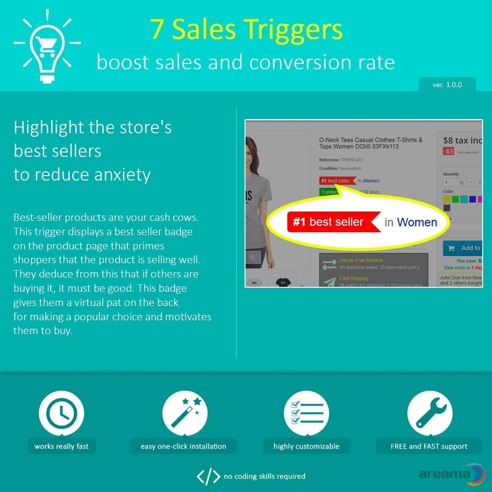 module - Additional Information & Product Tab - 7 Sales Triggers - boost sales and conversion rate - 2