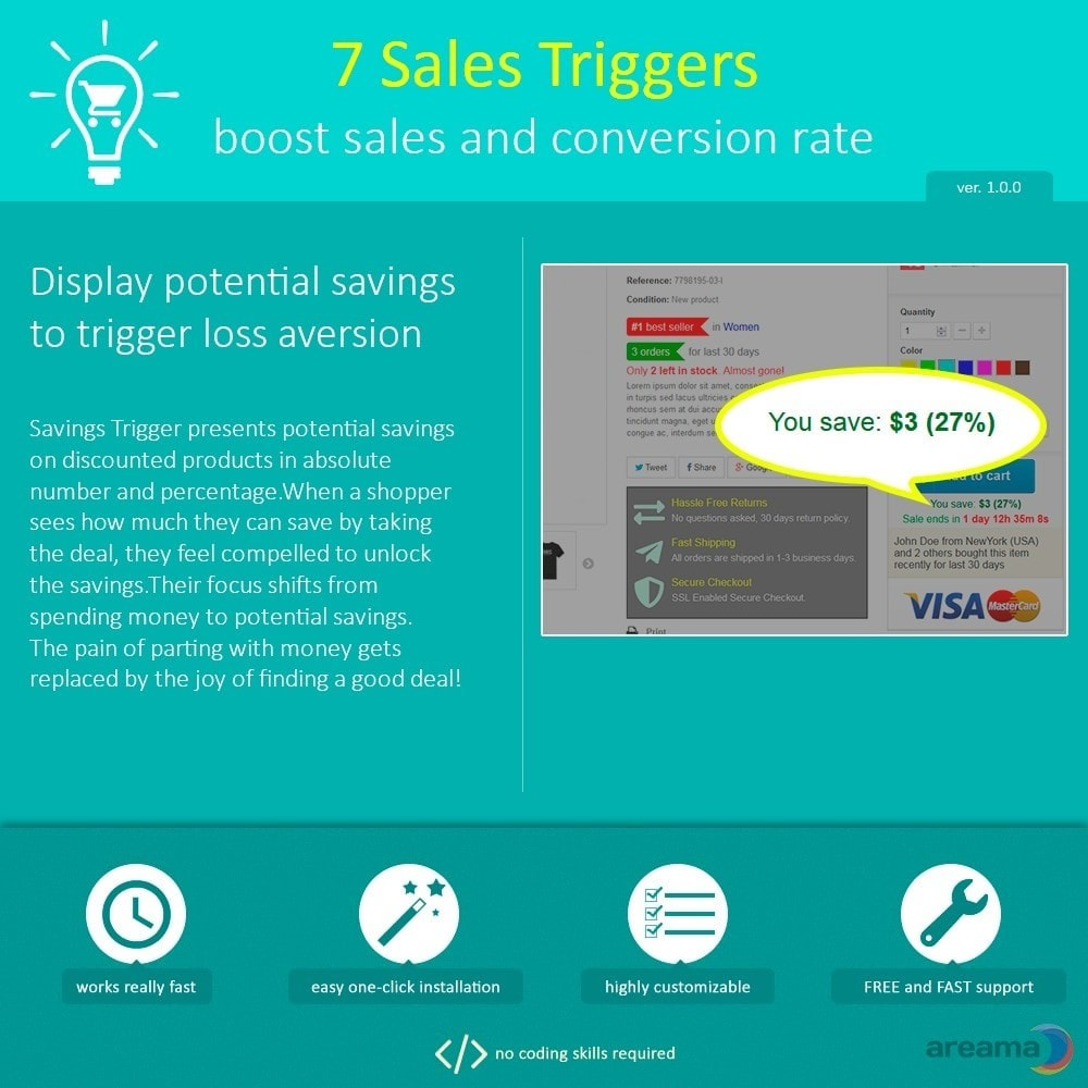 module - Additional Information & Product Tab - 7 Sales Triggers - boost sales and conversion rate - 5