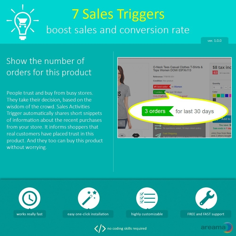 module - Additional Information & Product Tab - 7 Sales Triggers - boost sales and conversion rate - 6