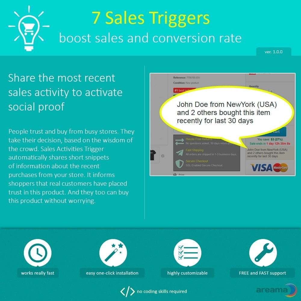 module - Additional Information & Product Tab - 7 Sales Triggers - boost sales and conversion rate - 7