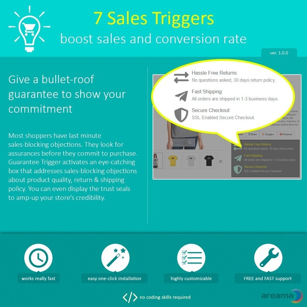 module - Additional Information & Product Tab - 7 Sales Triggers - boost sales and conversion rate - 8