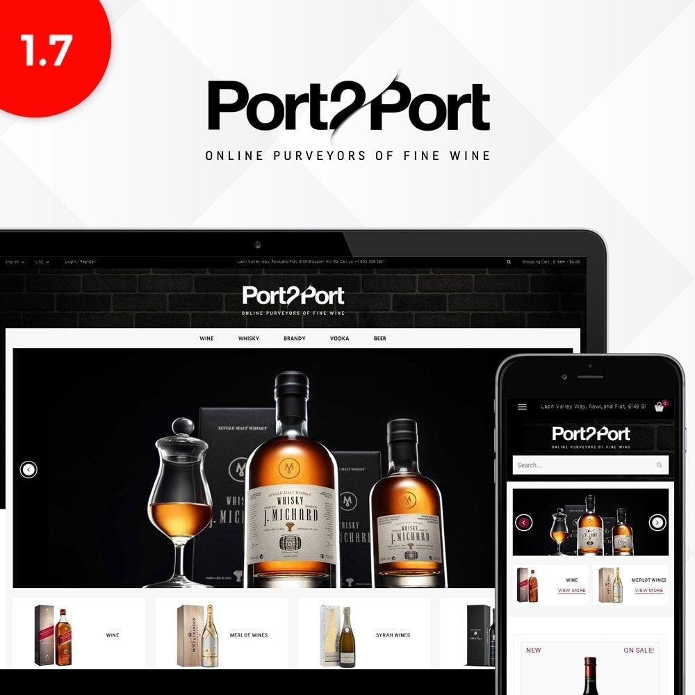 theme - Drink & Wine - Port2Port Store - 1