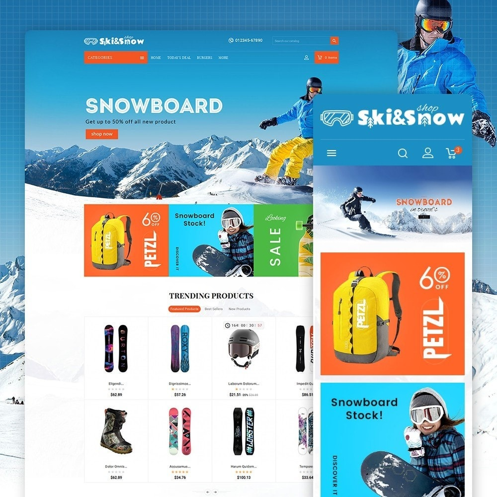 theme - Sport, Loisirs & Voyage - Ski & Snow Boards - 1