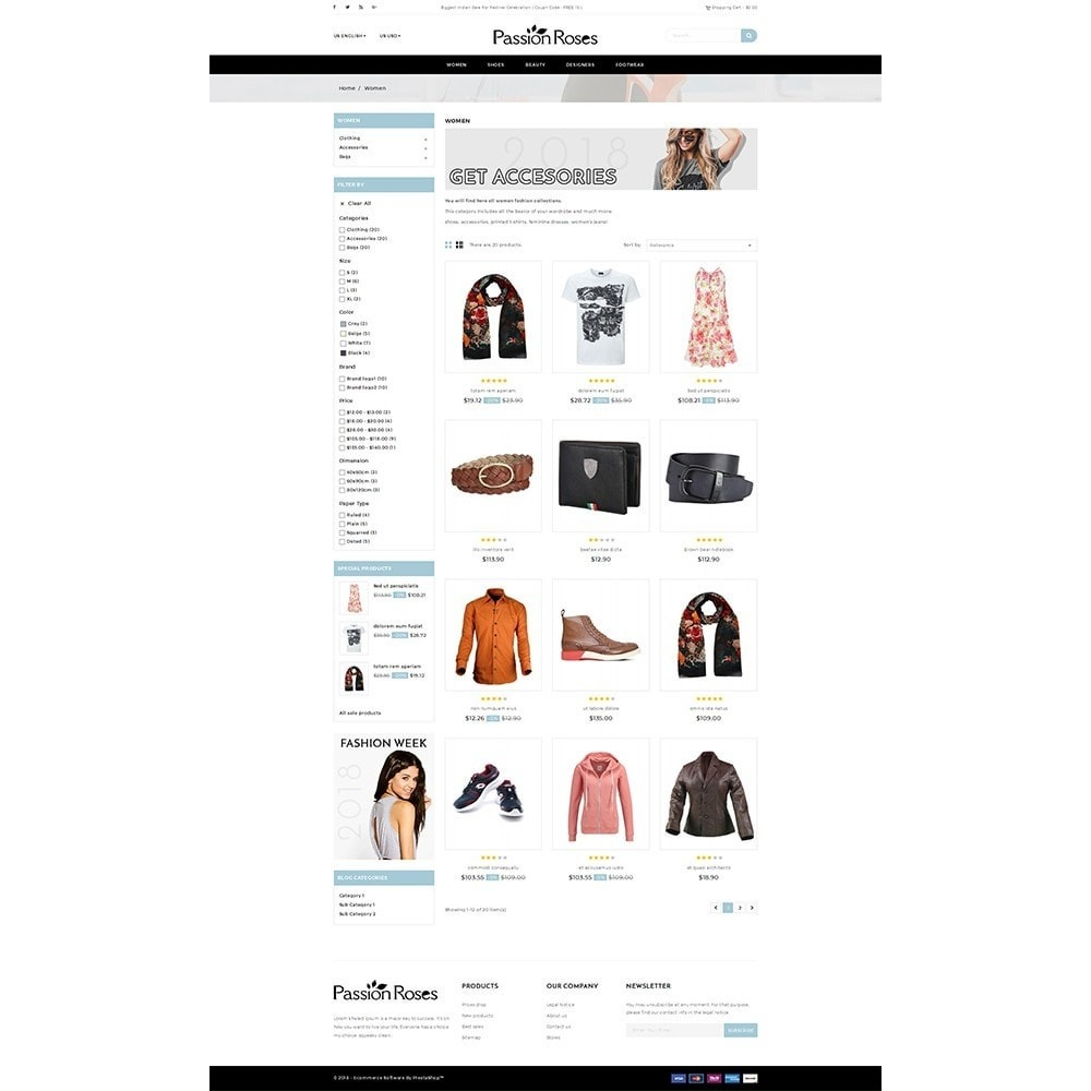 theme - Mode & Schoenen - Passion Roses Fashion Store - 3