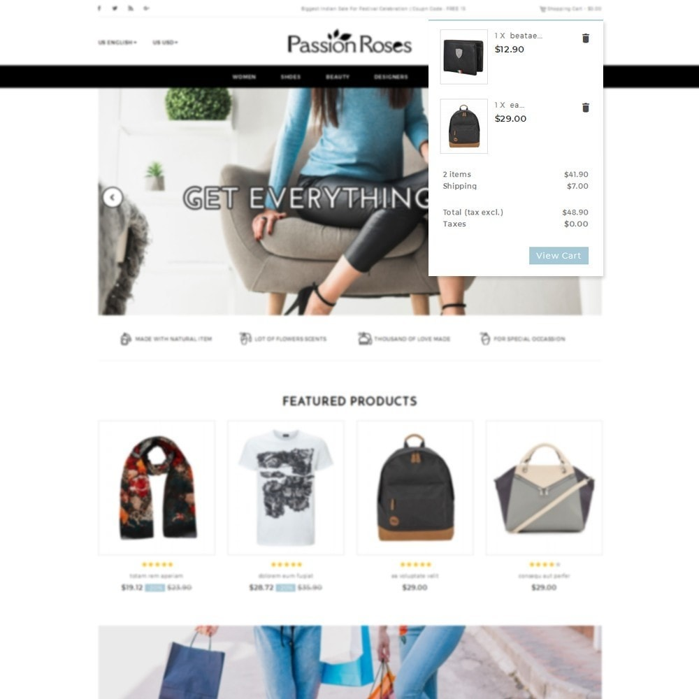 theme - Mode & Schoenen - Passion Roses Fashion Store - 8