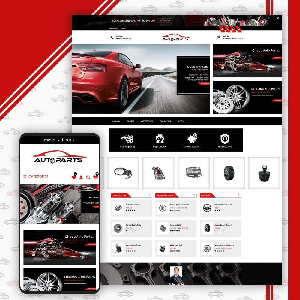 theme - Auto & Moto - Auto Parts Shop - 1