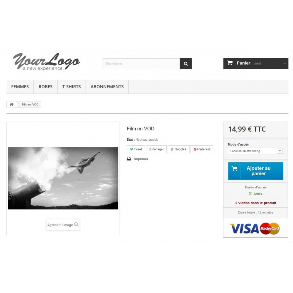 module - Produits virtuels (téléchargeables) - Kinow - Plateforme de vidéo à la demande (VOD/sVOD) - 2