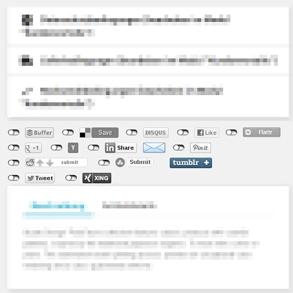 module - Teilen & Kommentieren - DSGVO Social-Media- Buttons für besseren Datenschutz - 1