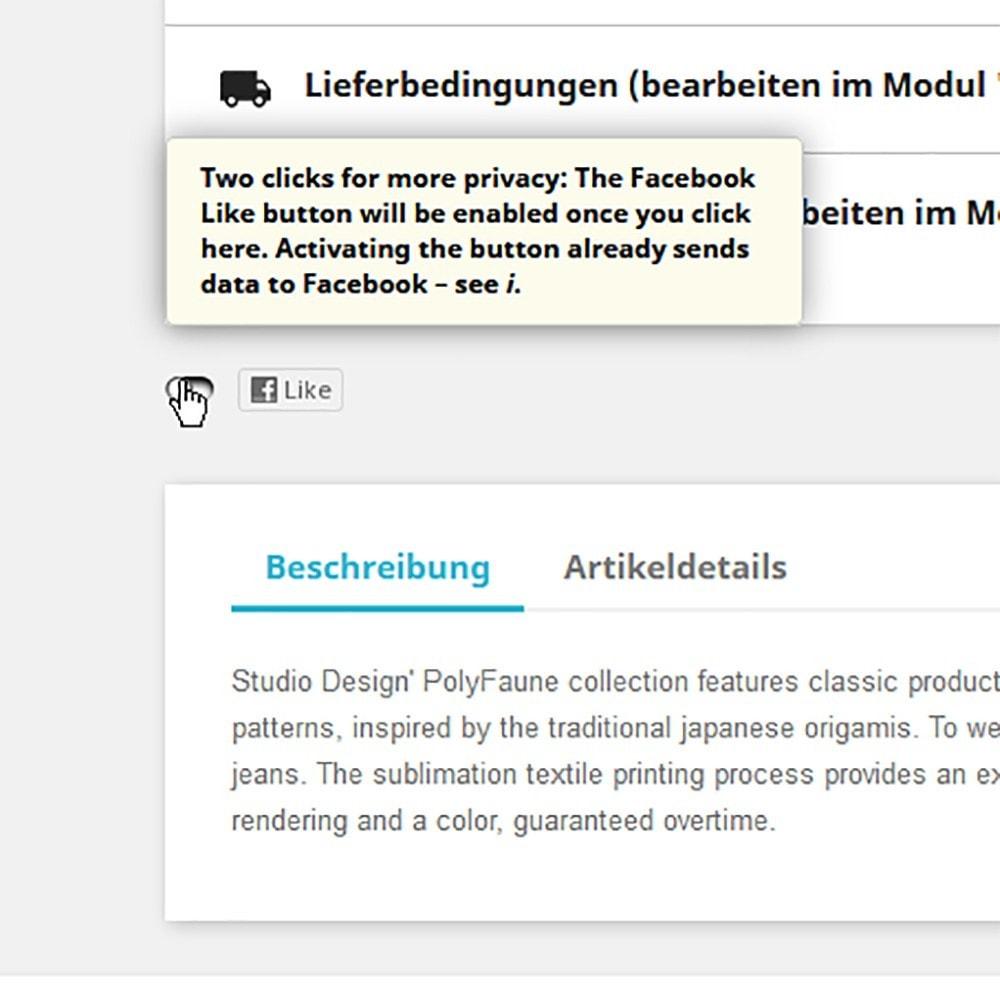 module - Teilen & Kommentieren - DSGVO Social-Media- Buttons für besseren Datenschutz - 2