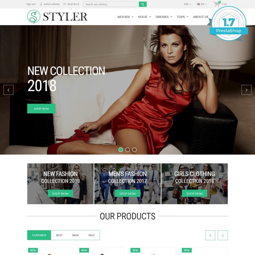 theme - Fashion & Shoes - InStyle - Clothes Store - 1