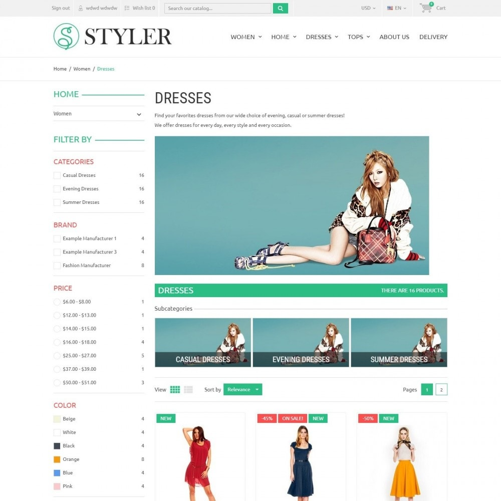 theme - Мода и обувь - InStyle - Магазин Одежды - 3