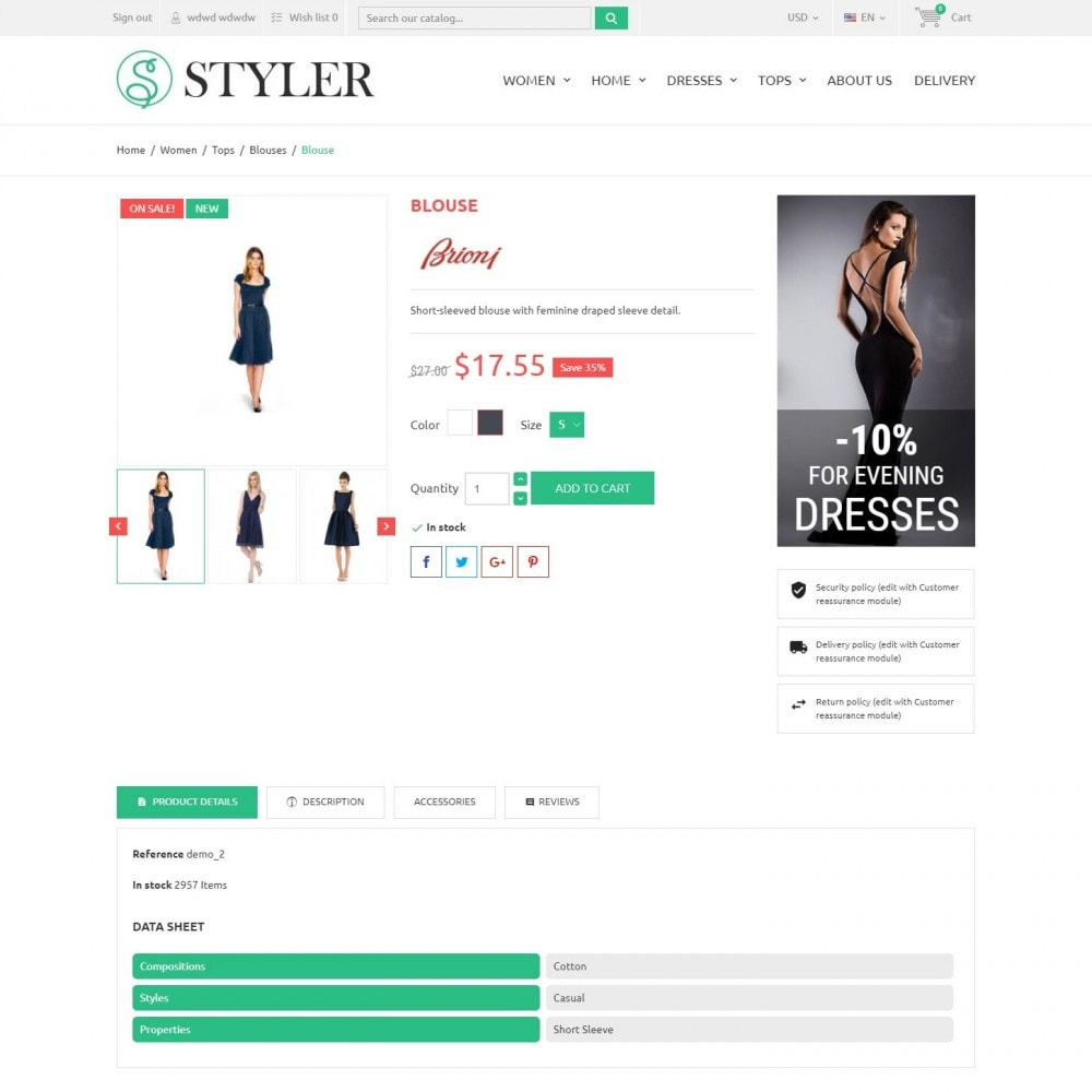 theme - Мода и обувь - InStyle - Магазин Одежды - 4