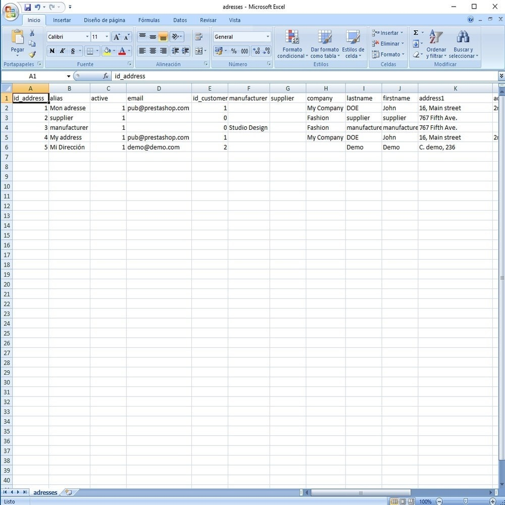 module - Marken & Hersteller - CSV Export Data Fields - 20